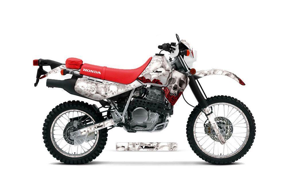 Honda XR650L Dirt Bike Graphic Kit - 1993-2018 Bone Collector White