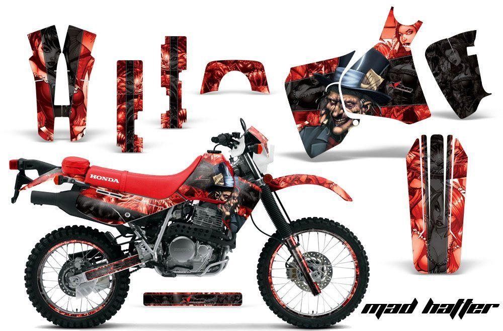 Honda XR650L Dirt Bike Graphic Kit - 1993-2018 Mad Hatter Red