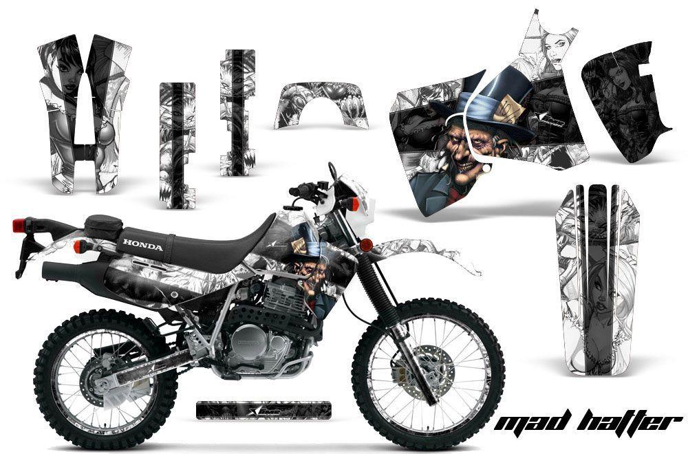 Honda XR650L Dirt Bike Graphic Kit - 1993-2018 Mad Hatter White