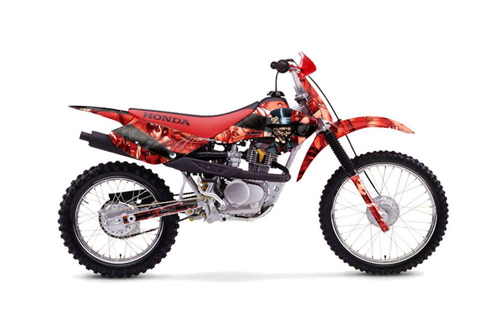 Honda XR100 Dirt Bike Graphic Kit - 2001-2003 Mad Hatter Red