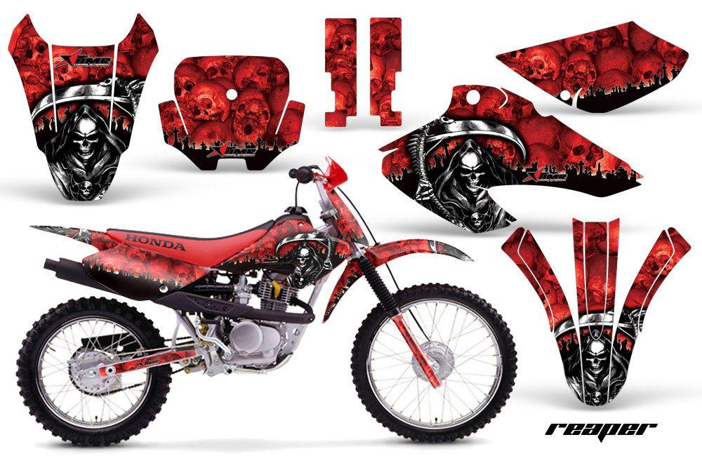 Honda XR80 Dirt Bike Graphic Kit - 2001-2003 Reaper Red