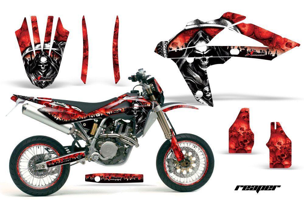 Husqvarna TC / TE 450 Dirt Bike Graphic Kit - 2005-2010 Reaper Red