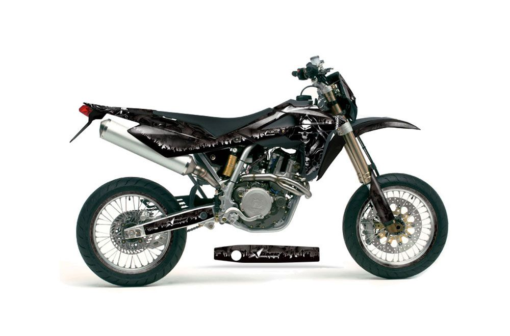 Husqvarna TC / TE 250 Dirt Bike Graphic Kit - 2005-2008 Reaper Black