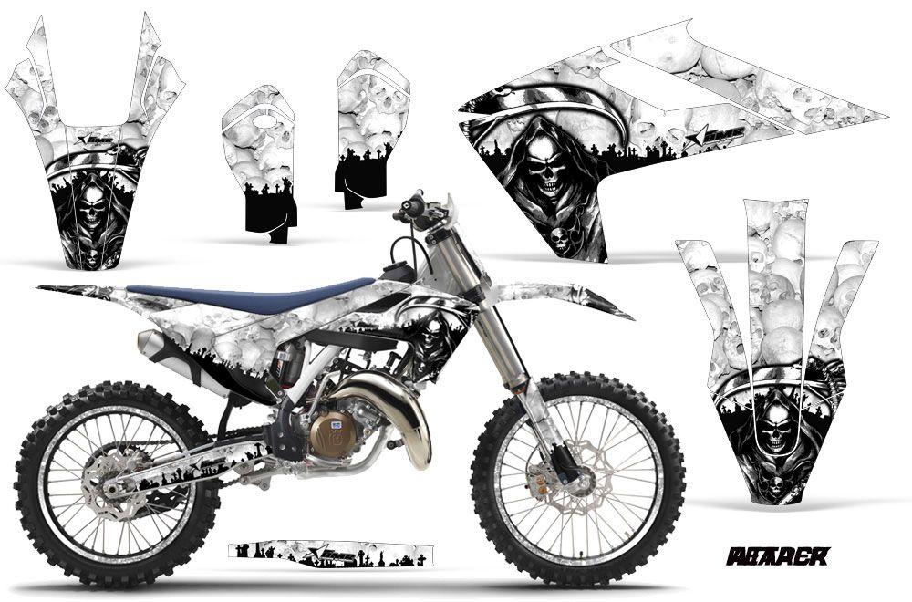 Husqvarna TC 125 Dirt Bike Graphic Kit - 2016-2017 Reaper White