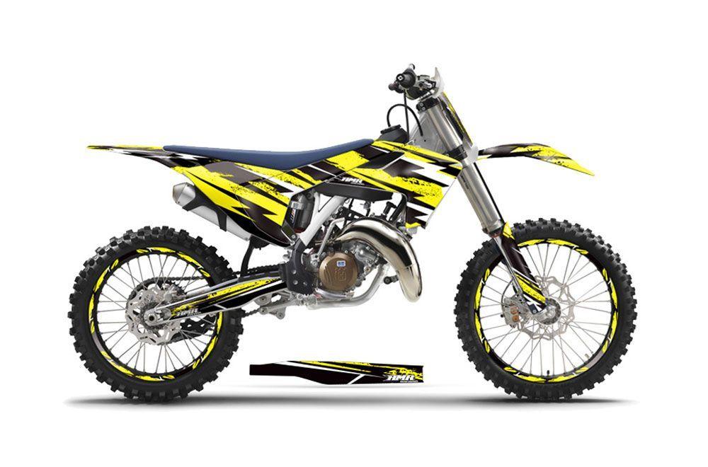 Husqvarna FC 350 Dirt Bike Graphic Kit - 2016-2017 Attack Yellow