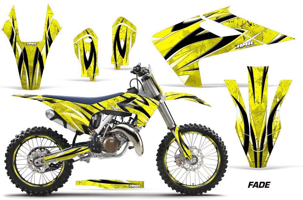 Husqvarna FC 350 Dirt Bike Graphic Kit - 2016-2017 Fade Yellow