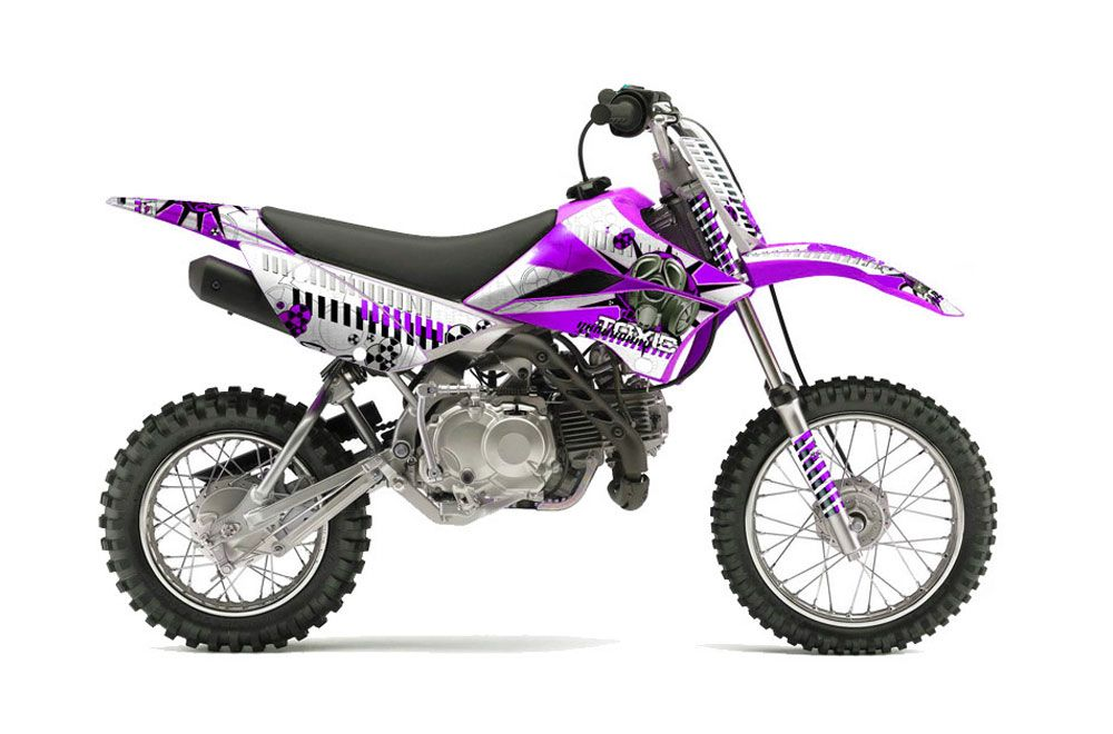 Kawasaki KLX110L Dirt Bike Graphic Kit - 2010-2018 Toxicity Purple
