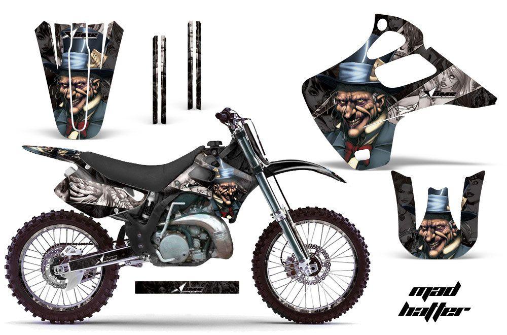 Kawasaki KX250 Dirt Bike Graphic Kit - 1992-1993 Mad Hatter Black