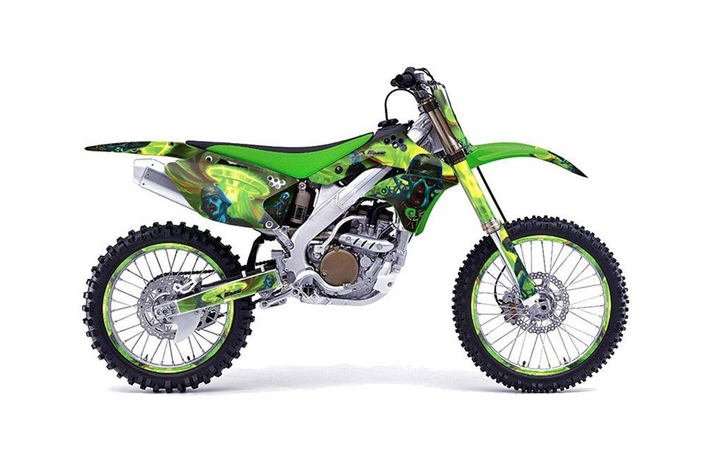 Kawasaki KX250F Dirt Bike Graphics: Zombie Trooper - Green MX ...
