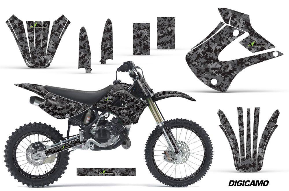 kawasaki kx85 dirt bike graphics digicamo black mx. Black Bedroom Furniture Sets. Home Design Ideas