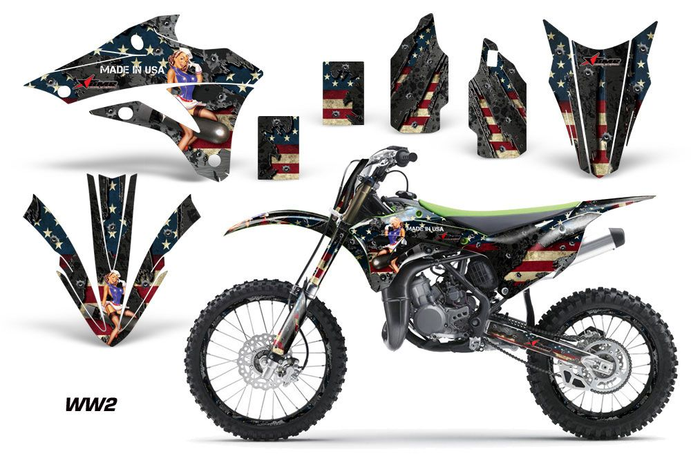 Kawasaki KX85 Dirt Bike Graphic Kit - 2014-2020 WW2