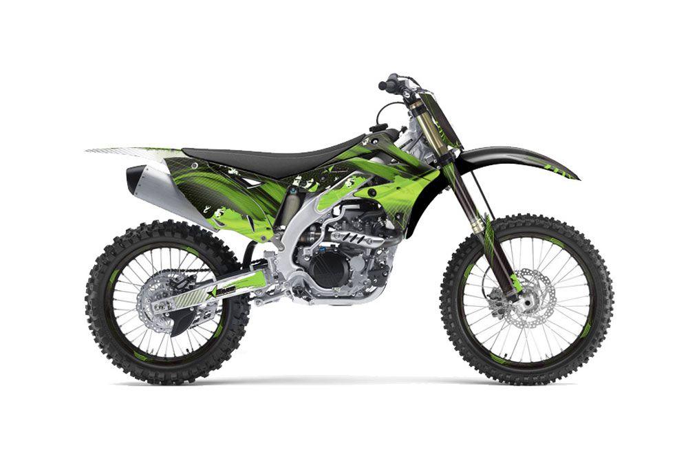 Kawasaki KXF450 2012-2015 MX Dirt Bike Graphic Kit Sticker Decals KX450F WITH Number Plates FRENZY GREEN