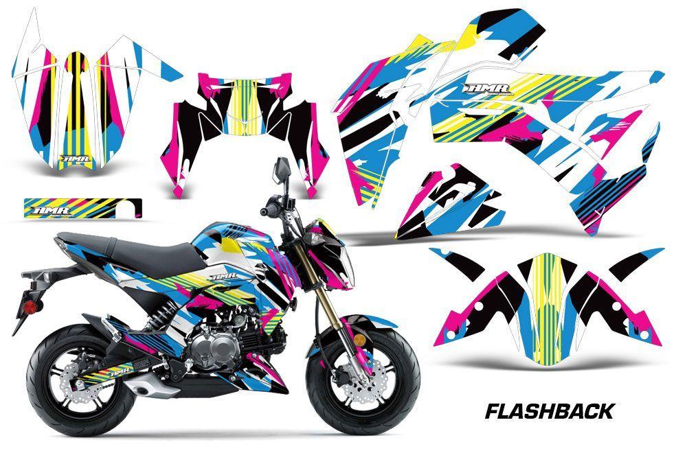 kawasaki z125 pro dirt bike graphics: flashback - mx graphic wrap