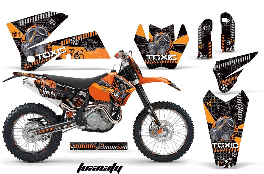 KTM C4 SX Dirt Bike Graphic Kit - 2005-2006 Toxicity Orange