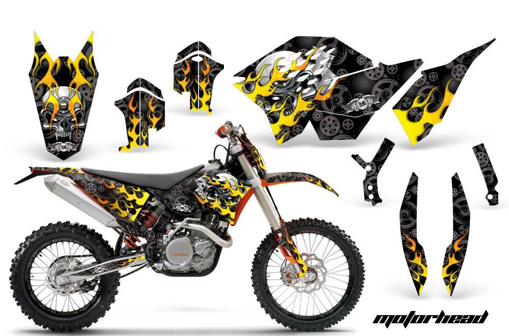 KTM C5 XC 125 / 525 Dirt Bike Graphic Kit - 2008-2010 Motorhead Black