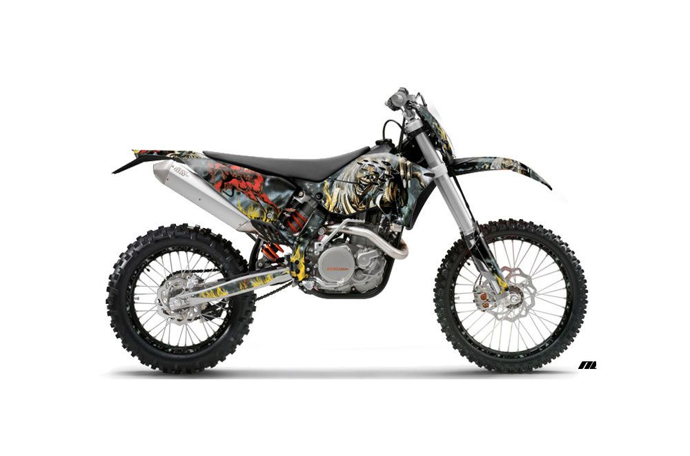 ktm c5 xcw 125 dirt bike graphics iron maiden nob mx. Black Bedroom Furniture Sets. Home Design Ideas