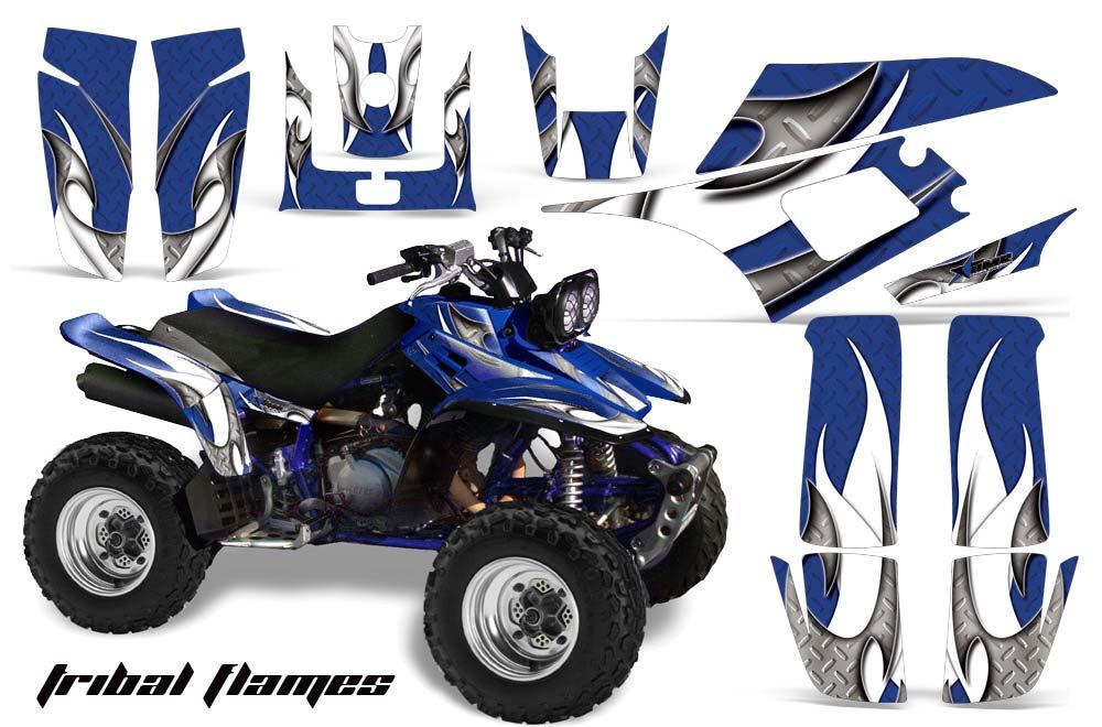 Yamaha Warrior 350 ATV Graphic Kit - All Years Tribal Flames Blue
