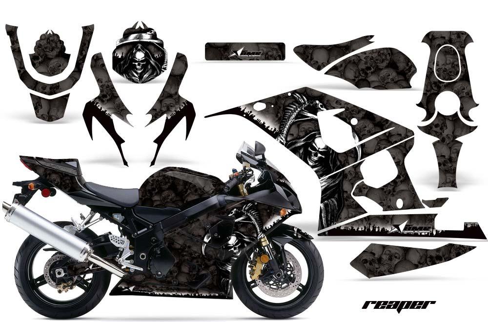 Suzuki GSXR 600 / 750 Graphic Kit - 2004-2005 Reaper Black