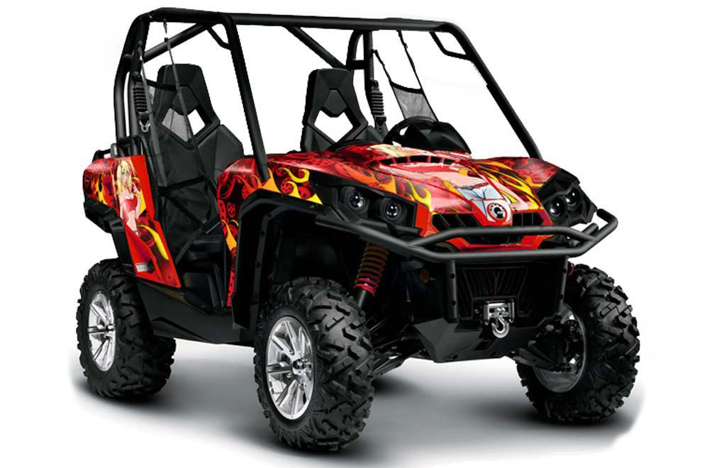 Can-Am Commander 1000 / 800 Graphic Kit - All Years Motorhead Mandy Red
