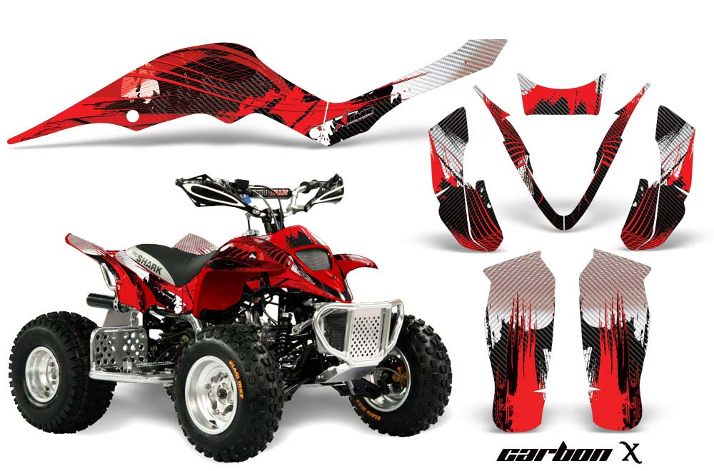 Apex Pro Shark MXR 70 / 90 ATV Graphic Kit - All Years Carbon X Red