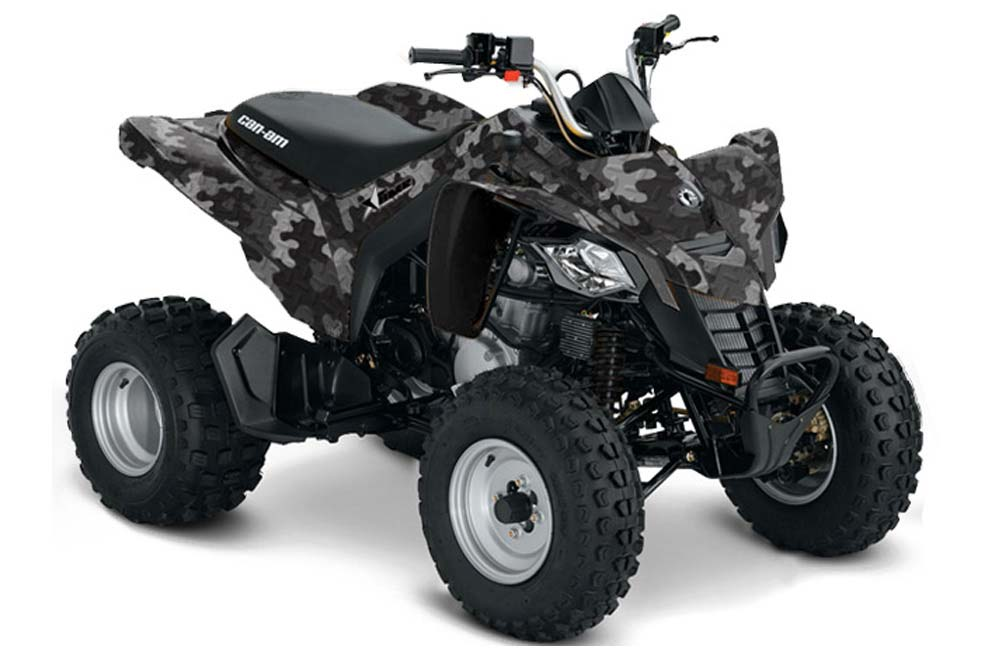 Can Am Bombardier DS250 ATV Graphic Kit - 2006-2016 Camoplate Black