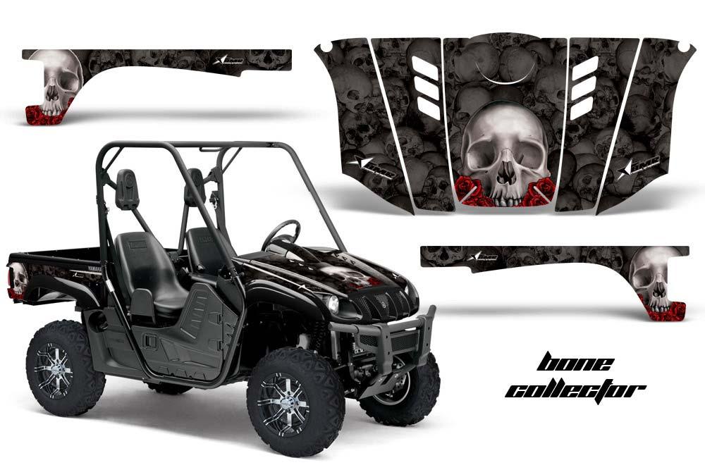 Yamaha rhino 700 660 450 utv graphics bone collector for Yamaha rhino side by side