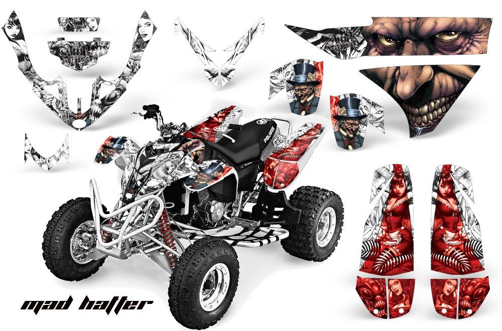 Polaris Predator 500 ATV Graphic Kit - 2002-2011 Mad Hatter Red