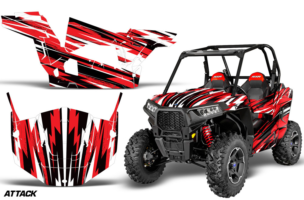 Polaris Rzr 900s Utv Graphics Attack Red Side By Side