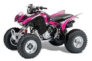 Honda TRX 300EX ATV Graphic Kit - 2007-2013 Carbon X Pink