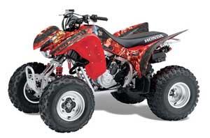 Honda TRX 300EX ATV Graphic Kit - 2007-2013 Mad Hatter Red