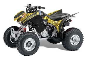 Honda TRX 300EX ATV Graphic Kit - 2007-2013 Mad Hatter Yellow