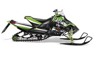 Arctic Cat Sno Pro Race 500 / 600 Sled Graphic Kit - 2008-2011 Mad Hatter Black