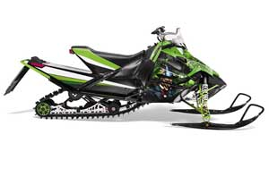 Arctic Cat Sno Pro Race 500 / 600 Sled Graphic Kit - 2008-2011 Mad Hatter Green