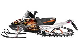 Arctic Cat M Series / Crossfire Sled Graphic Kit - All Years Firestorm Black