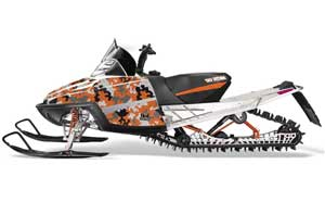 Arctic Cat M Series / Crossfire Sled Graphic Kit - All Years Camoplate Orange