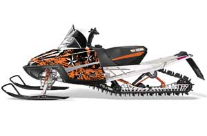 Arctic Cat M Series / Crossfire Sled Graphic Kit - All Years North Star Orange