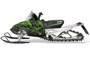 Arctic Cat M Series / Crossfire Sled Graphic Kit - All Years Camoplate Green
