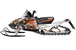 Arctic Cat M Series / Crossfire Sled Graphic Kit - All Years Firestorm White