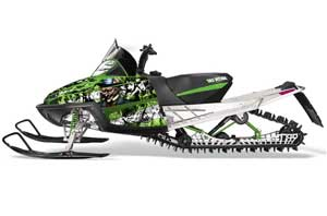 Arctic Cat M Series / Crossfire Sled Graphic Kit - All Years Mad Hatter Green