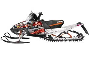Arctic Cat M Series / Crossfire Sled Graphic Kit - All Years Mad Hatter Silver