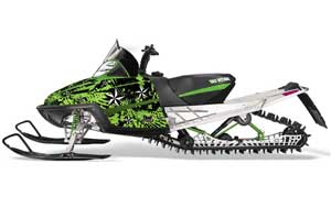 Arctic Cat M Series / Crossfire Sled Graphic Kit - All Years North Star Green