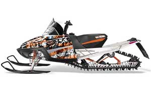Arctic Cat M Series / Crossfire Sled Graphic Kit - All Years Mad Hatter Orange