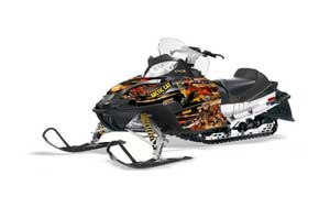 Arctic Cat Firecat F5 / F6 / F7 Sled Graphic Kit - 2003-2006 Firestorm Black