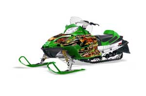 Arctic Cat Firecat F5 / F6 / F7 Sled Graphic Kit - 2003-2006 Firestorm Green