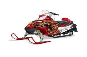Arctic Cat Firecat F5 / F6 / F7 Sled Graphic Kit - 2003-2006 Firestorm Red