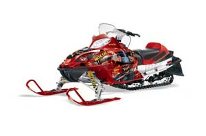 Arctic Cat Firecat F5 / F6 / F7 Sled Graphic Kit - 2003-2006 Mad Hatter Red