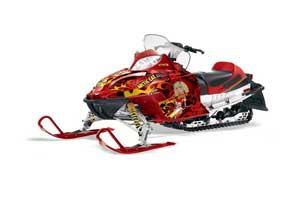 Arctic Cat Firecat F5 / F6 / F7 Sled Graphic Kit - 2003-2006 Motorhead Mandy Red