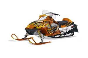 Arctic Cat Firecat F5 / F6 / F7 Sled Graphic Kit - 2003-2006 Motorhead Orange