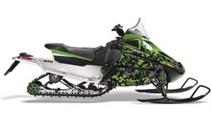 Arctic Cat F Z1 Series Sled Graphic Kit - All Years Camoplate Green