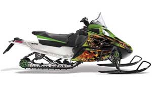 Arctic Cat F Z1 Series Sled Graphic Kit - All Years Firestorm Green